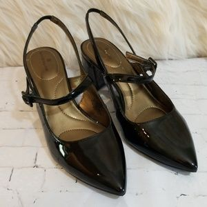 Bandolino Black Patent Leather Look Shoes
